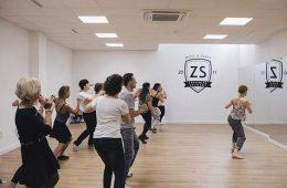 clase de swing en la academia de baile zaragoza en zaraswing