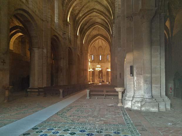 interior de la capilla del monasterio de veruela
