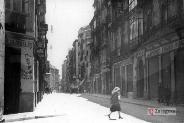 Calle Manifestación a principios del siglo XX