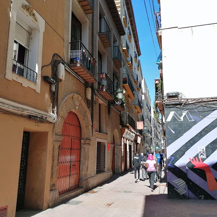 Calle San Pablo en Zaragoza