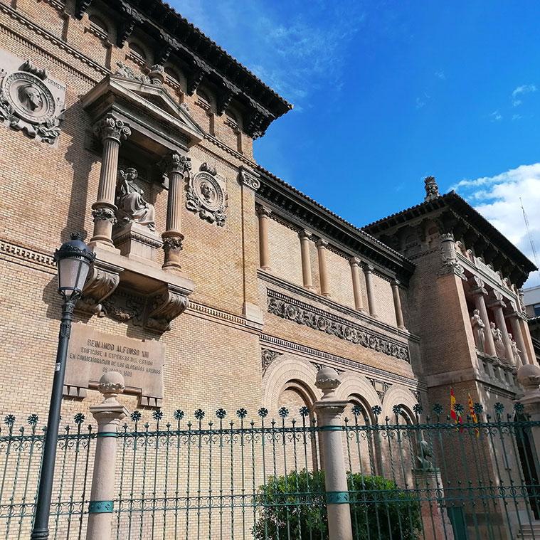 Detalle de la Fachada del Museo de Zaragoza