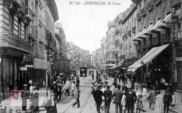 El Coso en 1910. Foto: Archivo Municipal de Zaragoza