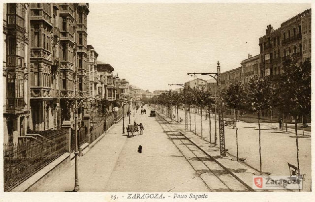 El Paseo Sagasta en 1910