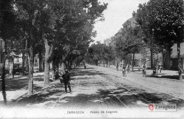 El Paseo Sagasta en el año 1900