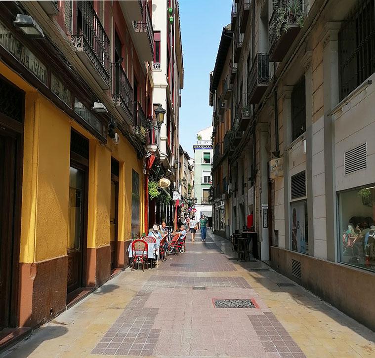 El final de la Calle Méndez Nuñez muy cerca de la Calle Don Jaime