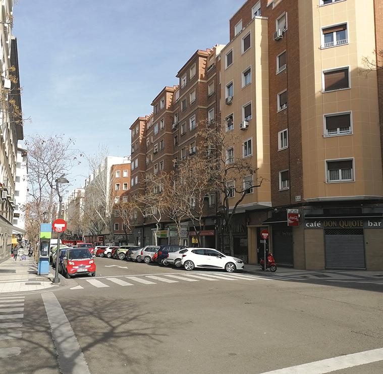 Esquina de las calles San Vicente Mártir y Pedro María Ric