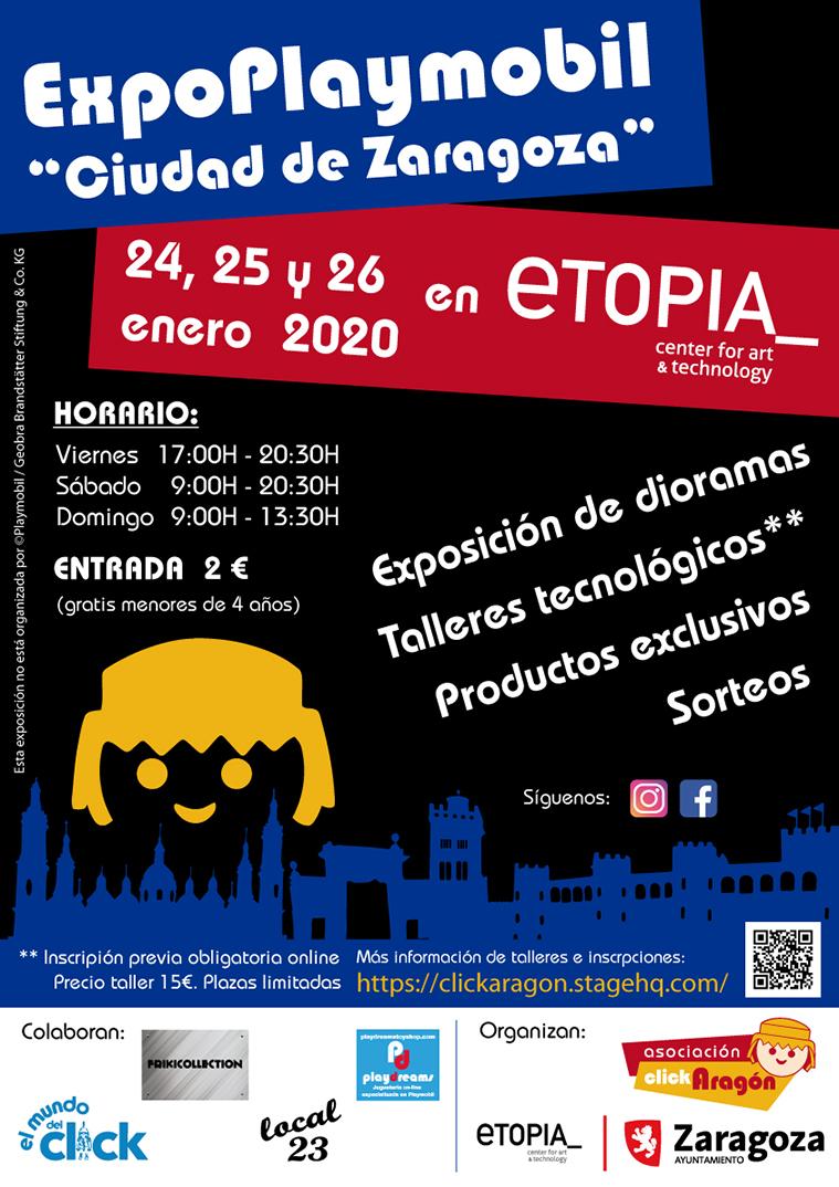 'ExpoPlaymobil Ciudad de Zaragoza. ClickAragón' en Etopia Centro de Arte y Tecnología