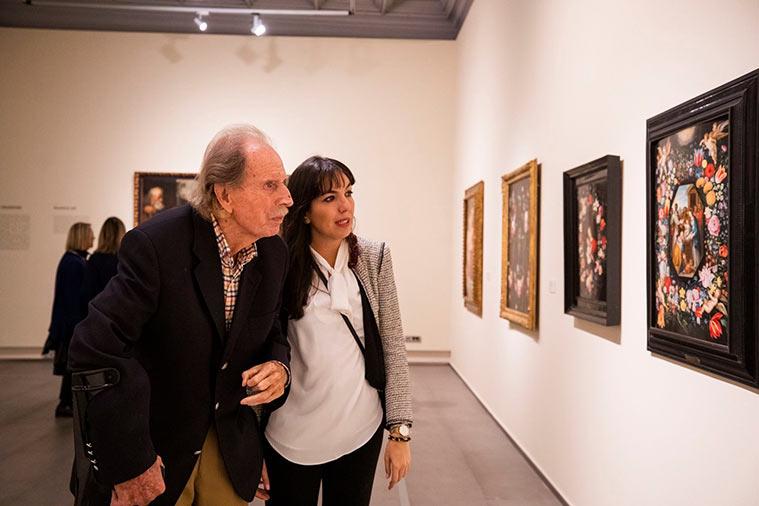 """Hans Rudolf Gerstenmaier en la inauguración de la exposición """"De Rubens a Van Dyck. La pintura flamenca en la Colección Gerstenmaier"""""""