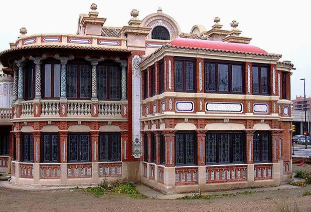 Vista de la Casa Solans desde la Avenida de Cataluña