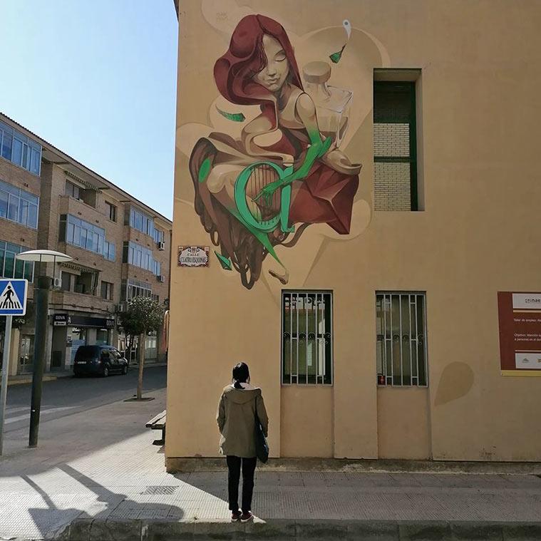 Mural de Isaac Mahow en la Casa de Cultura