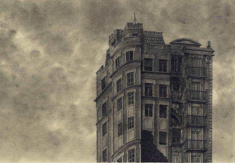 """""""Guía de Hoteles Inventados"""" , un libro de Óscar Sipán ilustrado por Óscar Sanmartín"""