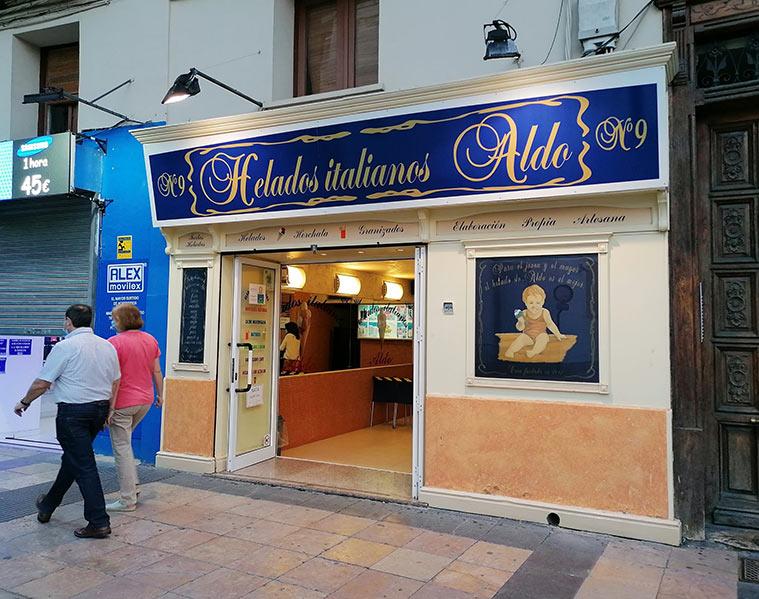 Helados Italianos Aldo Calle Don Jaime Zaragoza