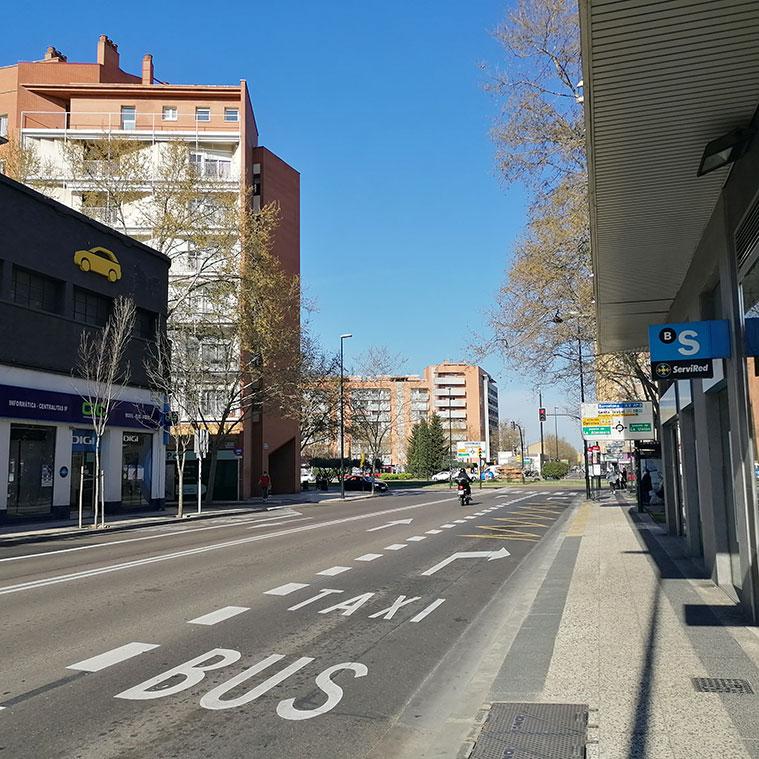 La Avenida Cataluña con la Plaza Mozart al fondo