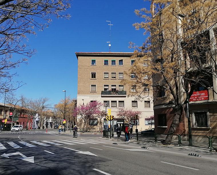 Intersección de Corona de Aragón con Franco y López, San Juan Bosco y la Avenida Valencia