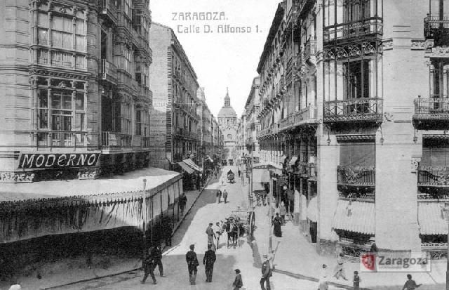 La Calle Alfonso I en 1910