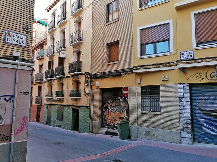 Vista de la Calle Del Olmo, en la que también vivió José Martí