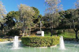 Monumento a Miguel Fleta en el Parque Grande de Zaragoza