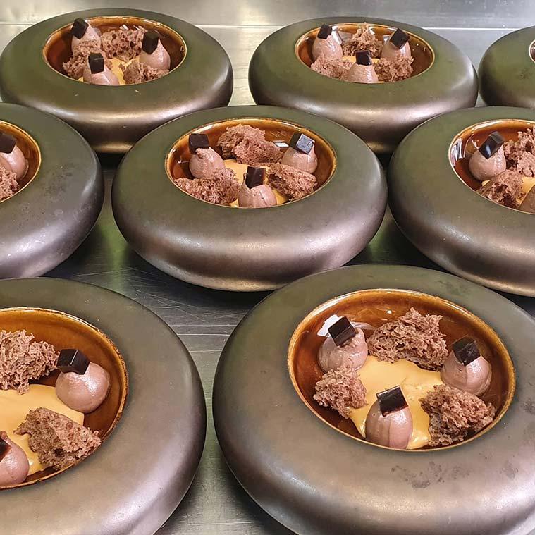 Platos elaborados por David Boldova chef del restaurante Novodabo