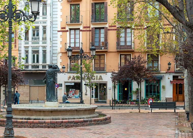 Plazas con encanto de Zaragoza