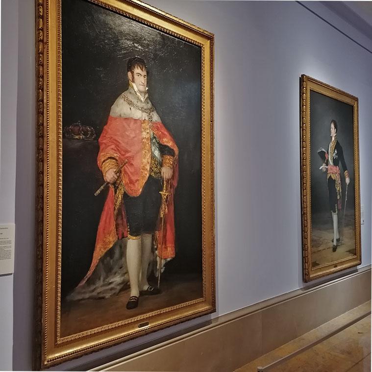 Retratos de Fernando VII y el Duque de San Carlos en el Museo de Zaragoza