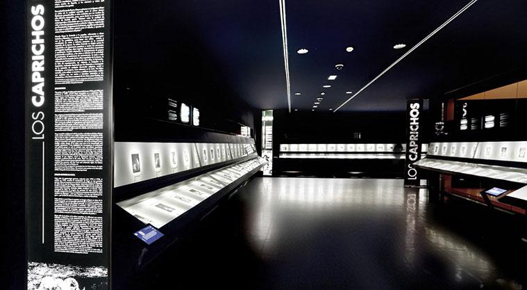 La sala de los grabados del Museo de Goya de Zaragoza
