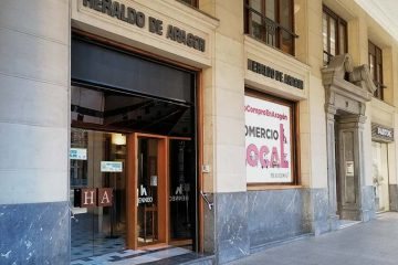 Sede del periódico Heraldo de Aragón en el Paseo Independencia