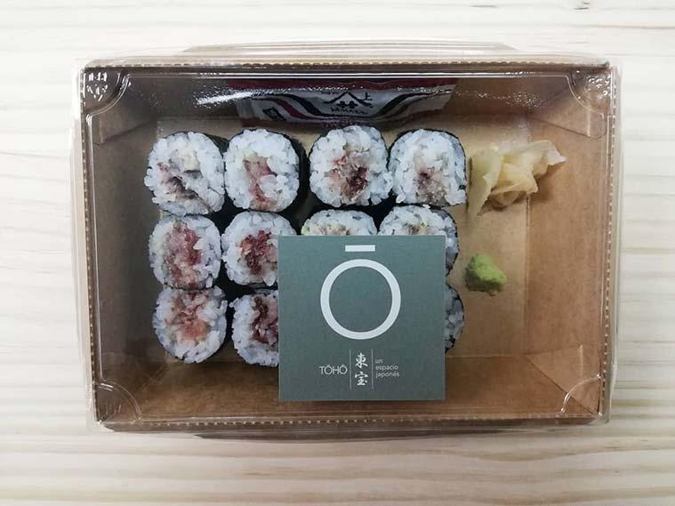 Sushi estilo japones en Espacio Toho