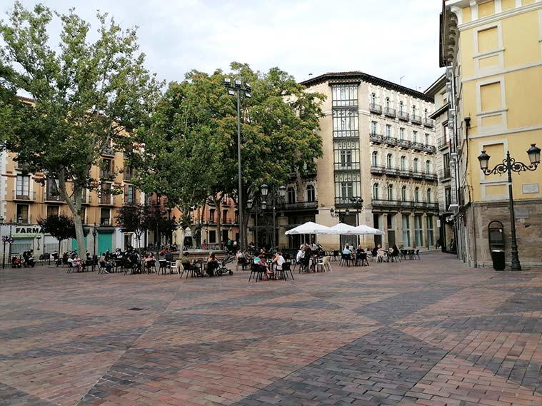 Vista de la Plaza del Justicia desde la Iglesia de Santa Isabel