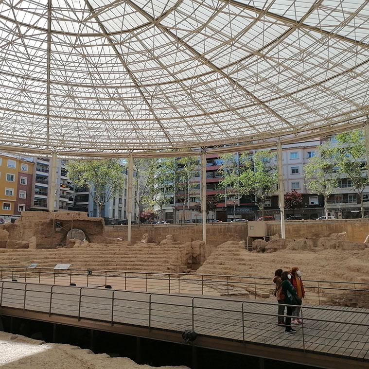 Visitando los restos de la antigua Zaragoza Romana
