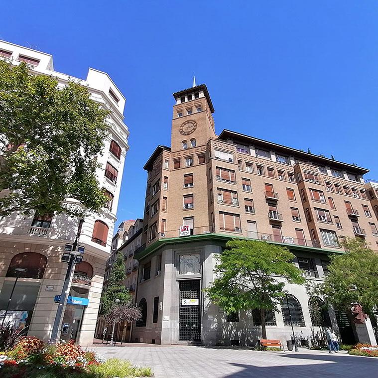 antiguo edificio de la Caja de Previsión Social de Aragón