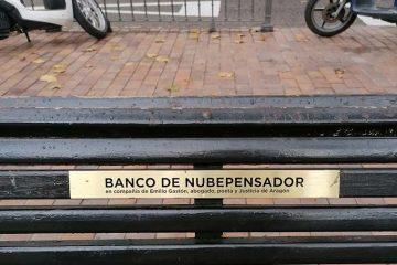banco de emilio gaston justicia de aragon en la plaza del justicia