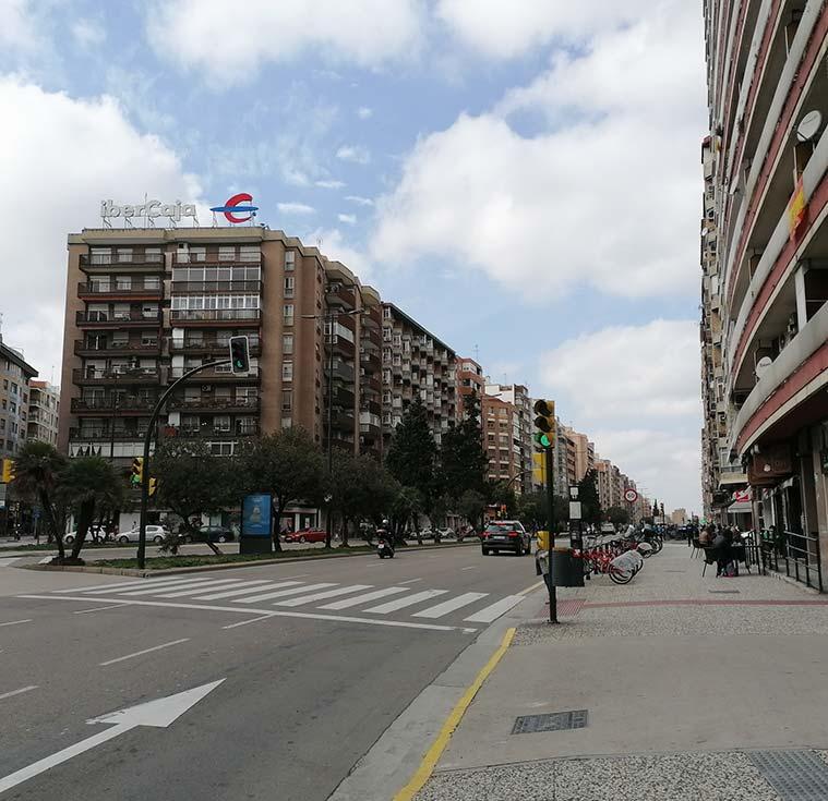 edificios situados al inicio de la avenida de Navarra