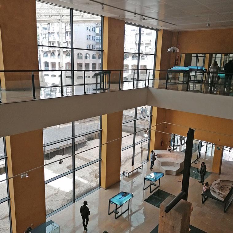 Interior del Museo del Teatro de Caesaraugusta