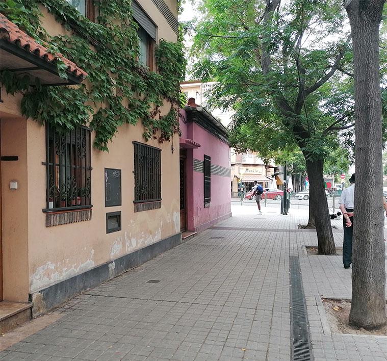 Parcelas de la Ciudad Jardín en la interseccion de las calles Franco y López y Duquesa Villahermosa