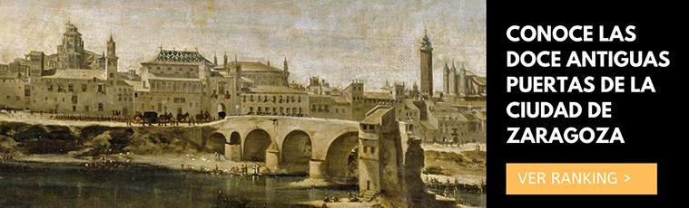 las doce antiguas puertas de la ciudad de zaragoza