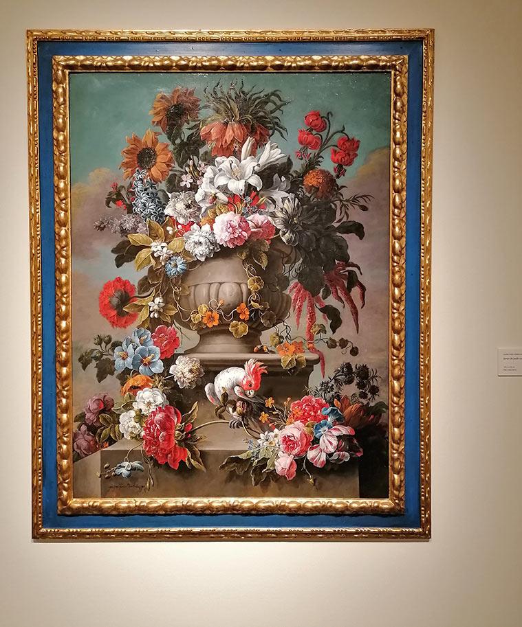Flores en la Exposición 'De Rubens a Van Dyck. La pintura flamenca en la Colección Gerstenmaier' en el Museo Goya