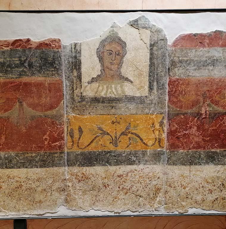 pintura romana encontrada en caesaraugusta en el museo de zaragoza