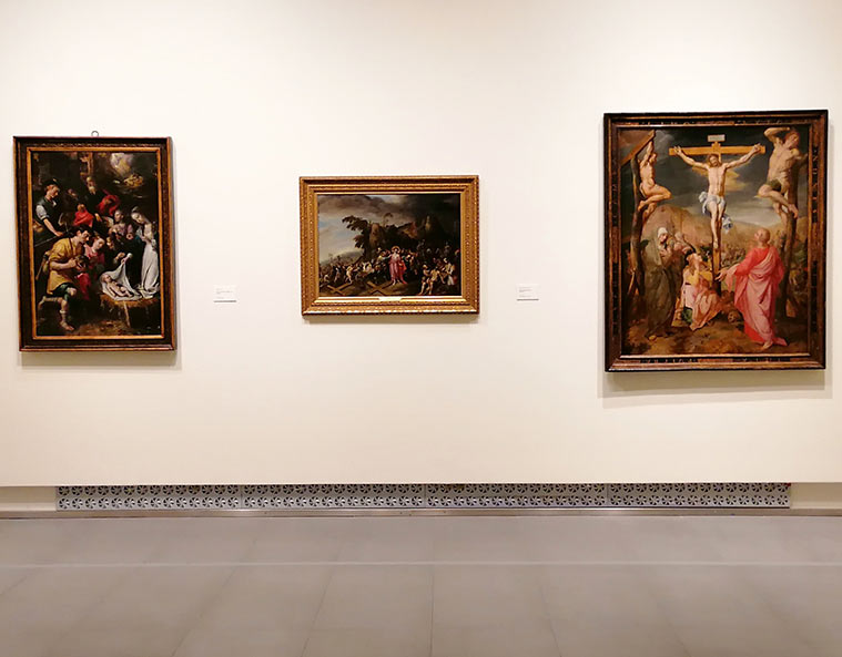 Pintura religiosa en la Exposición 'De Rubens a Van Dyck. La pintura flamenca en la Colección Gerstenmaier' en el Museo Goya