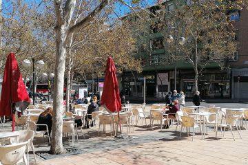 plaza de las canteras en el barrio de torrero de zaragoza