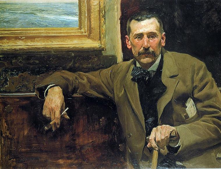 retrato del escritor Benito Pérez Galdós fue realizado por el pintor valenciano Joaquín Sorolla y Bastida en 1894