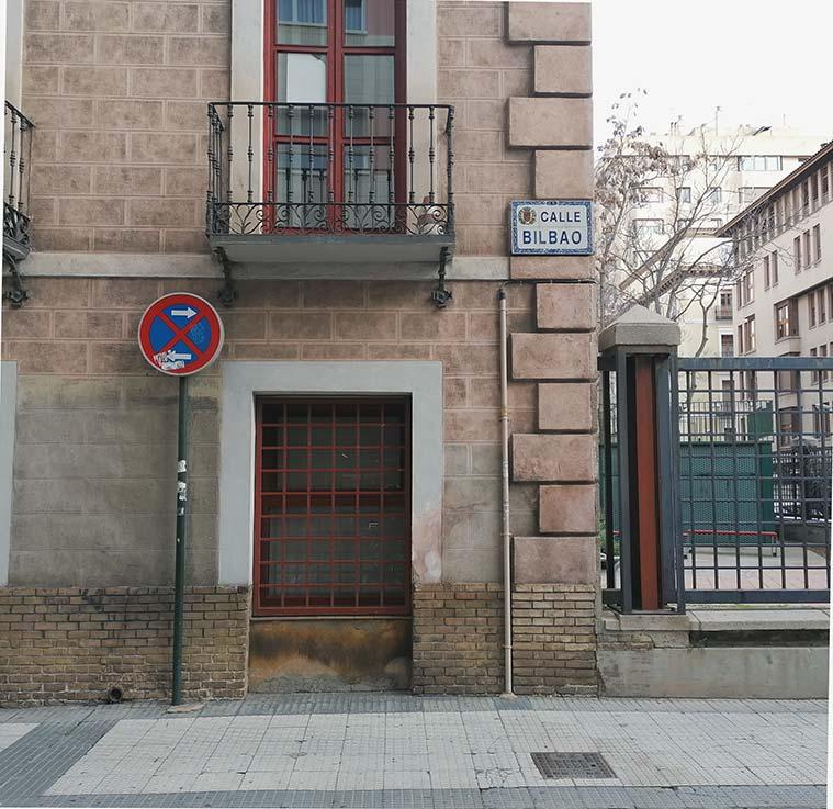 Bilbao en la intersección con Albareda