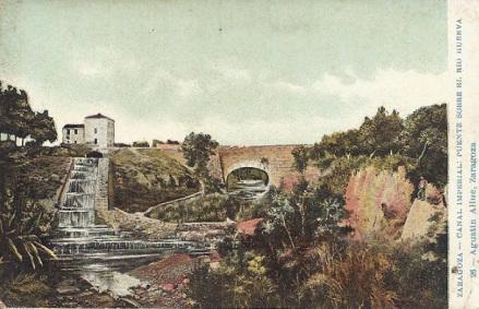 El Canal Imperial sobre el río Huerva