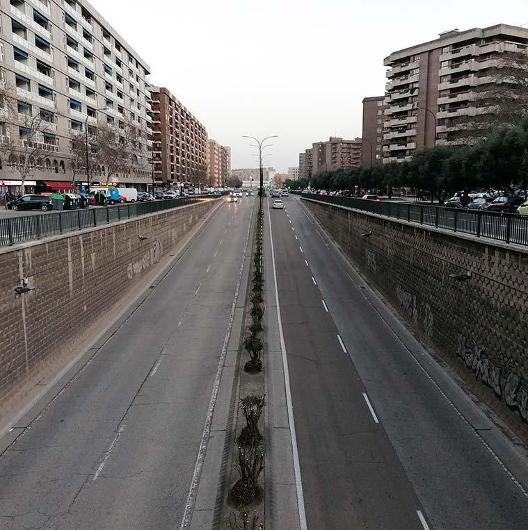 Paso subterráneo de la avenida Cesáreo Alierta