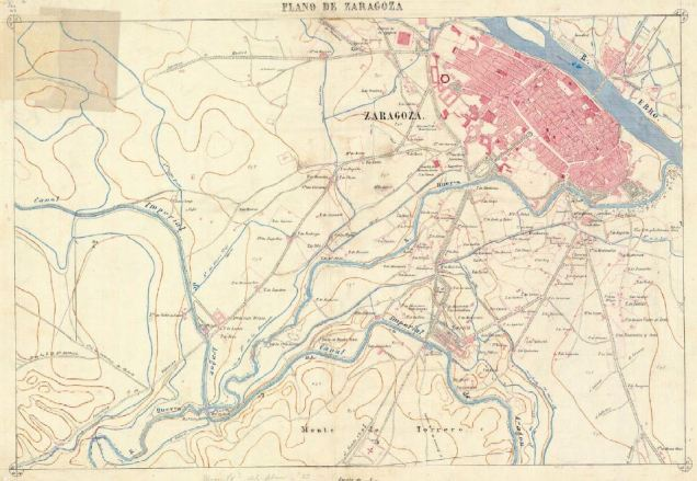 plano de zaragoza 1866