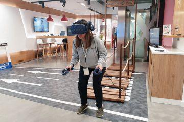 realidad virtual de SkiPirineos en el espacio Xplora