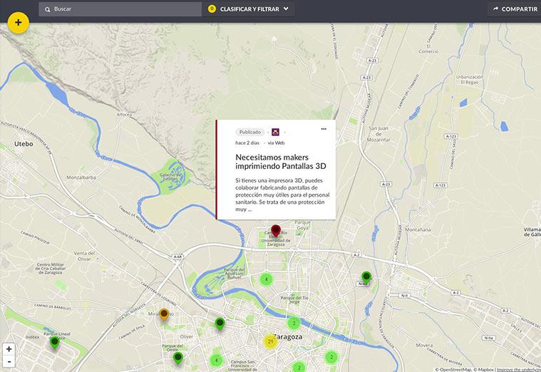 """Un mapa colaborativo de ayuda vecinal para """"frenar la curva"""""""