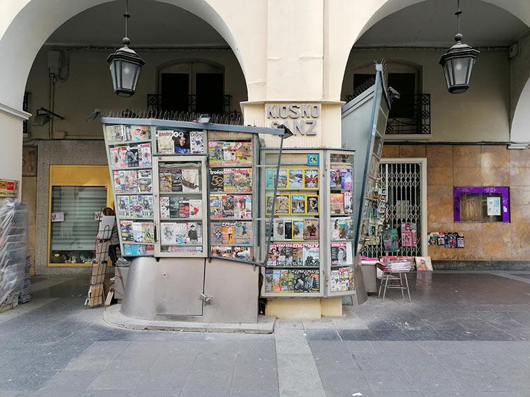 kiosco tradicional en el centro de huesca