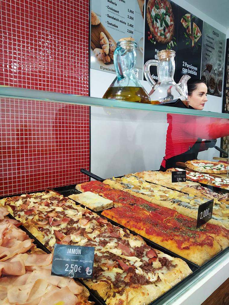 pizzas al corte en zaragoza