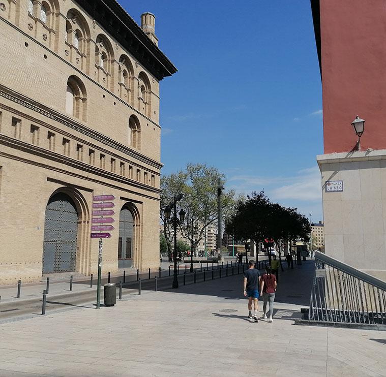 Lugar donde se encontraba la Puerta del Ángel, en la actual Calle Don Jaime