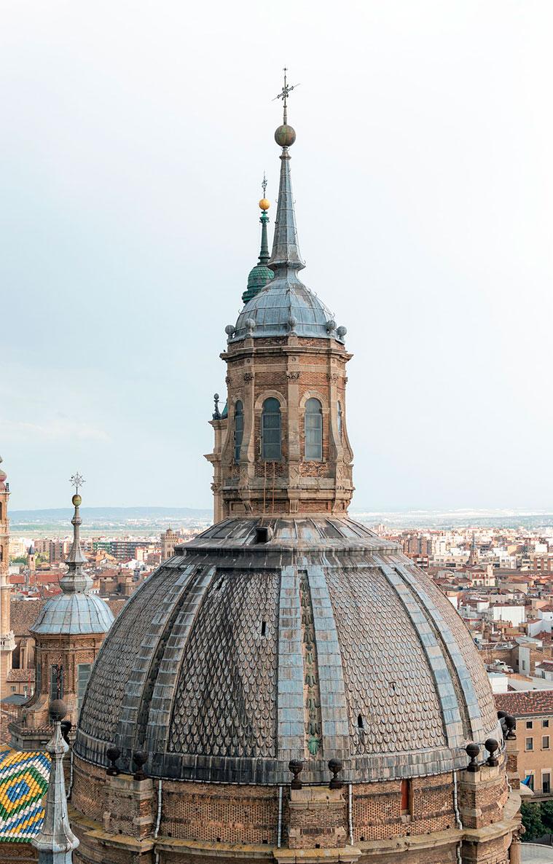 La gran cúpula central del Pilar